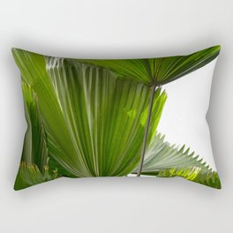 Palm Tree Photography | Landscape | Palm Leaf | Tropical Leaves | Green Tropical Leaves Rectangular Pillow
