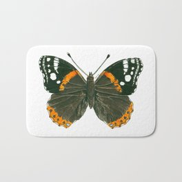 Admiral butterfly ink illustration Bath Mat