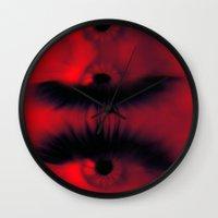 all seeing eye Wall Clocks featuring EYE AM All Seeing by Eye Am