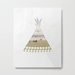 Tipi Number 2 Metal Print