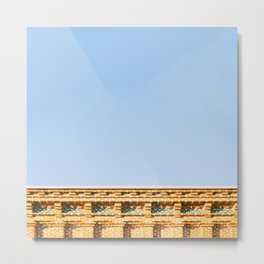 The Wall | ArchiMinimal Metal Print