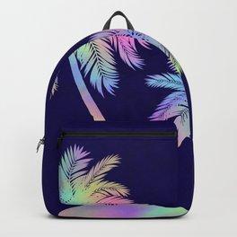 Rainbow palm Island Silhouette Backpack