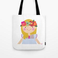 Flower crown girl Tote Bag