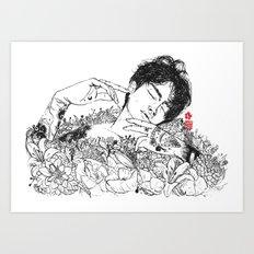 Not Ophelia (BW) Art Print