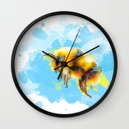 Bumble Away Bumble Bee - Insect Illustration Wall Clock