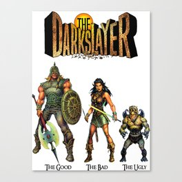 The Darkslayer - The Good, The Bad & the Ugly (Jarla, Farc, Eep) Canvas Print
