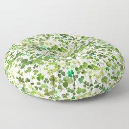Shamrock and Clover Field Floor Pillow