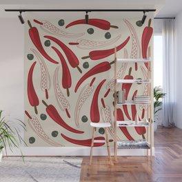 Hot chilli pattern design Wall Mural