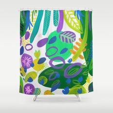 Between the branches. V Shower Curtain
