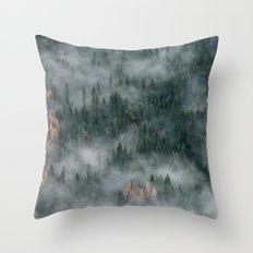Woods landscape Throw Pillow