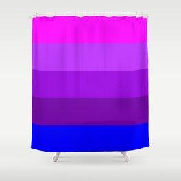 Transgender flag  by Jennifer Pellinen Shower Curtain
