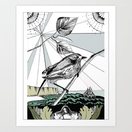 Discovery of New Land Art Print