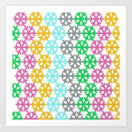 colourful snow pattern Art Print