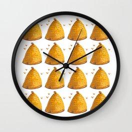 Bee Hives Wall Clock