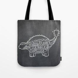 Ankylosaurus Dinosaur (A.K.A. Armored Lizard) Butcher Meat Diagram Tote Bag