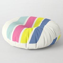 4 Retro Stripes #1 Floor Pillow