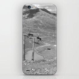 chairlift repair kaunertal alps tyrol austria europe black white iPhone Skin