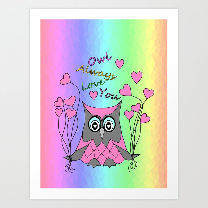Love You Always Art Print