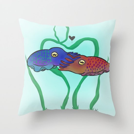 """Cuddlefish"" Throw Pillow"