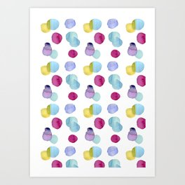 burbujas colores Art Print