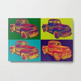 Colorful 1951 Ford F-1 Pickup Truck Pop Art  Metal Print