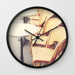 Paris Cafe, Classic Parisian coffee chairs Wall Clock