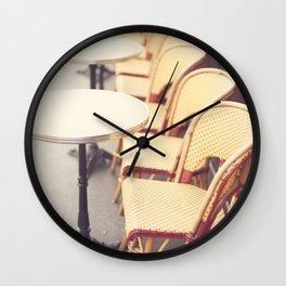 Paris Cafe, Classic Parisian coffee chairs Wall Clock