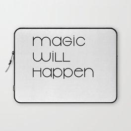 Magic Will Happen (black) Laptop Sleeve