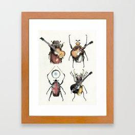 Meet the Beetles (white option) Framed Art Print