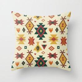 Autumn Kilim No. 1 in Ecru Throw Pillow