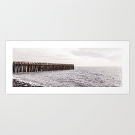 Breakwater at sea, photo print, travel photography, the Netherlands Art Print