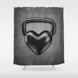 Kettlebell heart / 3D render of heavy heart shaped kettlebell Shower Curtain