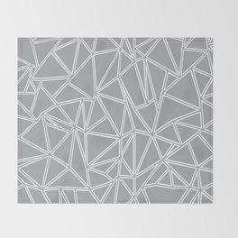 Ab Blocks Grey #2 Throw Blanket