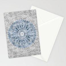 New Vintage Floral Mandala Ink Blue Stationery Cards