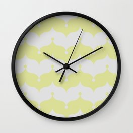 gold and silver clown onions Wall Clock