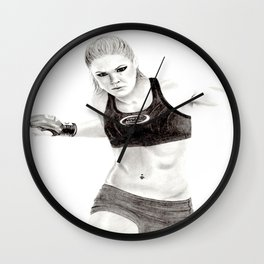 Rowdy Rousey Wall Clock