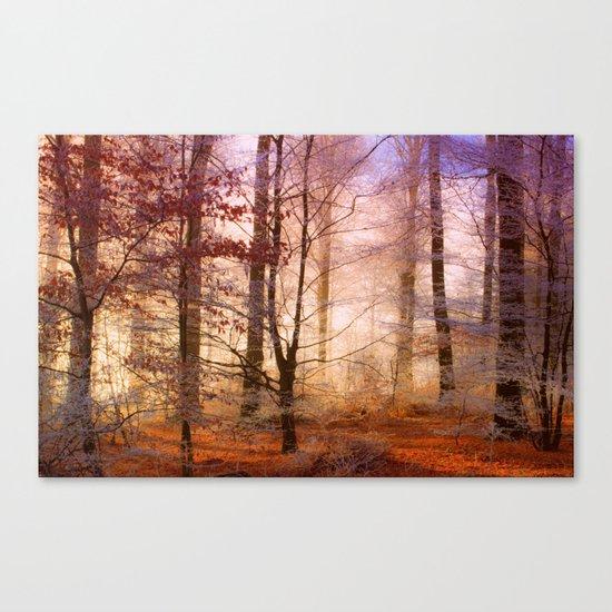 ORANGE FOREST FLOOR Canvas Print