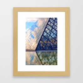 Clouds crowding in Framed Art Print