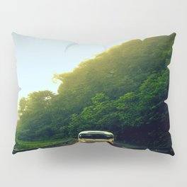 Mountain Bus Pillow Sham