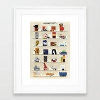 babina Framed Art Prints featuring archist city by federico babina