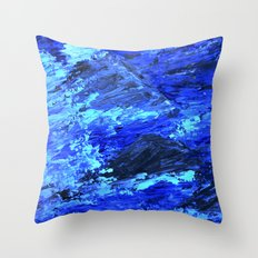 Waves  /abstract Throw Pillow