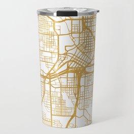 ATLANTA GEORGIA CITY STREET MAP ART Travel Mug