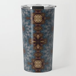 Shibori Blue Travel Mug