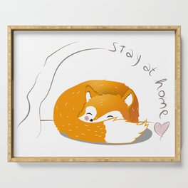 stay at home fox Serving Tray