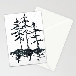 THE THREE SISTERS Black and White Stationery Cards
