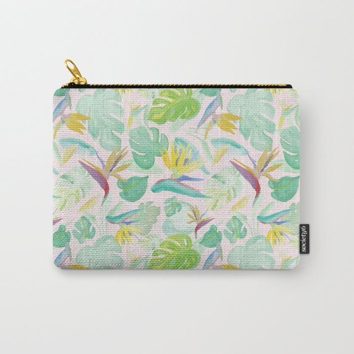 Birds of Paradise Pattern Carry-All Pouch
