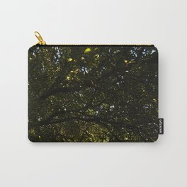 Silhouetted Leaves Abstract Carry-All Pouch
