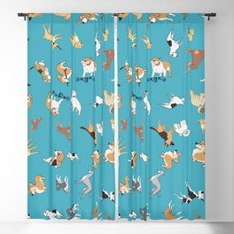 Scattered Cartoon Dogs Blackout Curtain