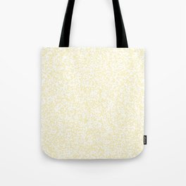 Tiny Spots - White and Blond Yellow Tote Bag