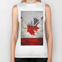 canada Biker Tanks featuring Flags - Canada by Ale Ibanez